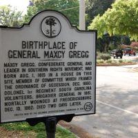 SCHM Birthplace of General Maxcy Gregg, Колумбиа