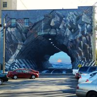 """""""Tunnel Vision"""" mural by Blue Sky, Колумбиа"""