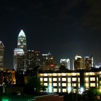 DSC07116  Charlotte Downtown Night view 4/19/07 - SW view, Пайнридж