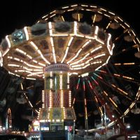 Swing and Ferris Wheel at the Sumter Fair, Самтер