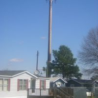 Wooden Pole Cell Site in Florence, SC, Хемингуэй