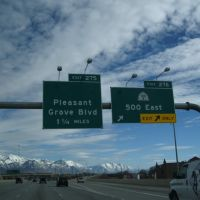 UT-180 and Pleasant Grove Blvd. Signage, Американ-Форк