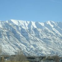 View of Mount Timpanogos from American Fork, Utah, Американ-Форк