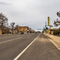 Viewing north on Main St. (Utah State Hwy. 160) towards downtown Beaver, Utah, Бивер