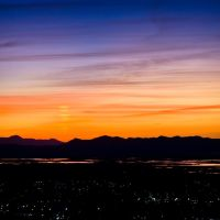 Sunset over Salt Lake from Bountiful, Боунтифул