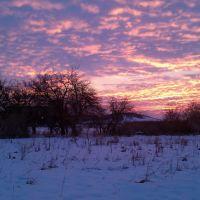 Winter sunset, Вудс-Кросс