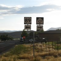 US-89/UT-28 Junction Signage, Ганнисон