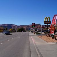 Main street in Kanab, Utah, Канаб