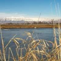 Wasatch Mountains From Clinton Pond, Клинтон