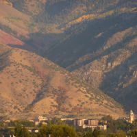Logan and Utah State University with Dry Canyon and Mount Logan, Sept 2008, 1, Логан