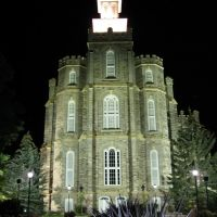 Logan Temple, East Facade, Night, Логан