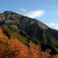 Mount Olympus from Neffs Canyon Ridge. Wasatch Mountains, Utah., Маунт-Олимпус
