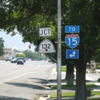 UT-132, TO I-15 signs in Nephi, UT, Нефи