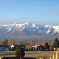 Mt. Ben Lomond from Washington Terrace Elementary School Playground, Саут-Огден