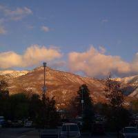 Montaña de ogden en el parking  del Mckay Dee hospital Center, Саут-Огден
