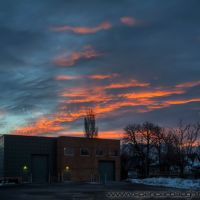 sunrise from salt lake community college south campus parking lot, Саут-Солт-Лейк
