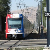 Utah Transit Authority (UTA) Trax Train at 2100 South, Salt Lake City, UT, Саут-Солт-Лейк