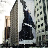 2002 Olympics building wraps, goalie., Солт-Лейк-Сити