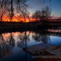 sunset at jordan river parkway platform, Тэйлорсвилл