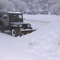 Rex plowing snow, Уинта