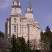 Manti Temple from West, Уинта