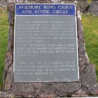 Aviemore Ring Cairn and Stone Circle Plaque, Авимор