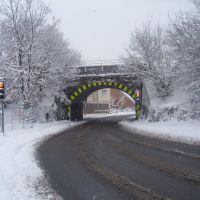 ALDERSHOT, THE RAILWAY BRIDGE, NORTH LANE, Алдершот