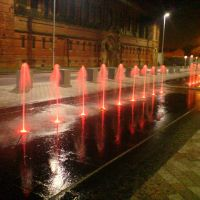 RED FOUNTAIN, ST.PETERSFIELD, ASHTON UNDER LYNE, LANCAHSIRE, ENGLAND, UK, Аштон-андер-Лин