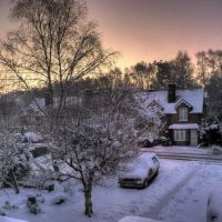 Snowy sunrise over Brookwood (Feb 2009), Басингсток