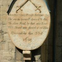 Plaque to two Danish Soldiers St Marys, Beverley, Беверли