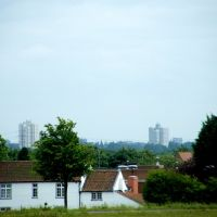 Orchard Park, Hull viewed from Beverley Westwood, Беверли