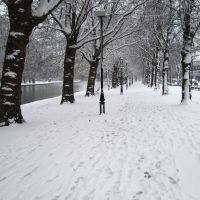 Bedford embankment in the snow - 2007, Бедворт