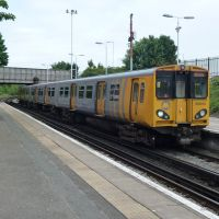 Merseyrail Train At Birkenhead North Station Bound For Liverpool., Биркенхед