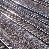 Rails and light at Sandy, Бистон