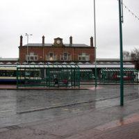 Blackburn railway station from boulevard, Блэкберн