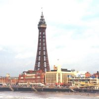 BLACKPOOL TOWER AND FOR SHORE FROM THE PEIR, Блэкпул