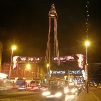 Blackpool Tower at Night, Блэкпул