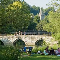 Bradford on Avon - Summer evening by river, Брадфорд