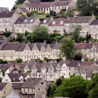Bradford on Avon, the hillside terraces, Брадфорд