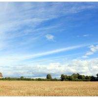 Autumn fields and sky near Little Ashley, Wiltshire, Брадфорд