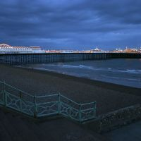 View to Brighton Pier by night, United Kingdom, Брайтон