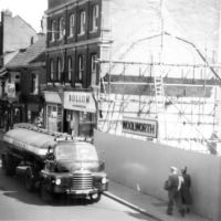 Woolworths under constuction, Bridgwater, Somerset 1955/6, Бриджуотер