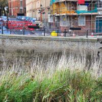 Retaining wall failure, West Quay, Bridgwater, Бриджуотер