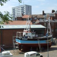 Boat yard off Bridge Street, Bridlington, Бридлингтон