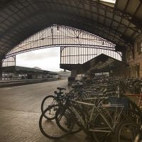 Bicycles at Bristol Temple Meads station, Бристоль