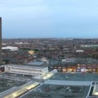 Bootle panoramic from 16th floor of Strand House, Бутл