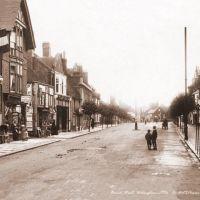 Broad Street, Wokingham c1910s - Sepia tone, Вокингем