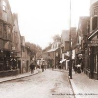 Denmark Street, Wokingham c1900s - Sepia tone, Вокингем