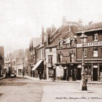 The Market Place, Wokingham c1900s - Sepia tone, Вокингем