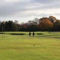 Towards the next hole at Sand Martins Golf Course, Вокингем